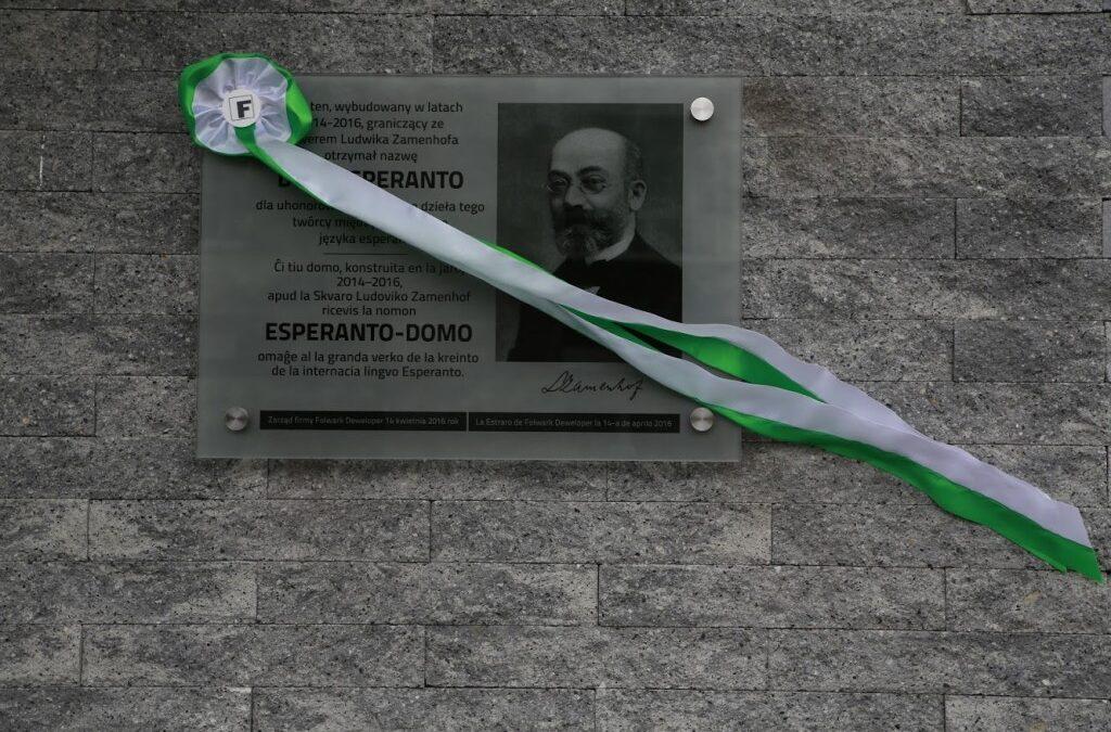 Uroczyste odsłonięcie tablicy poświęconej Ludwikowi Zamenhofowi